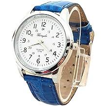 Bestow Reloj Simple Reloj de Pulsera de Cuarzo Elegante Correa de Cuero Deportivo Anal¨®