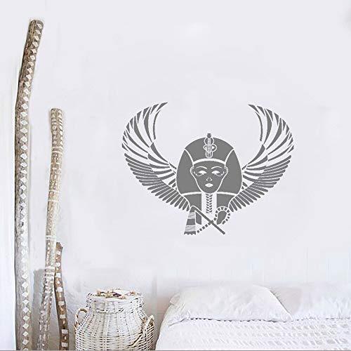 WallSticker866 Pharao Ägypten Pyramide Flügel Wandaufkleber Vinyl Aufkleber Wandbild Schlafzimmer Design Muster Wandaufkleber Abnehmbare Tapete Art Deco 53x42 cm
