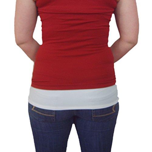 Shirt Extender morbido Spandex Chemisettes by Anne chemi-extender White