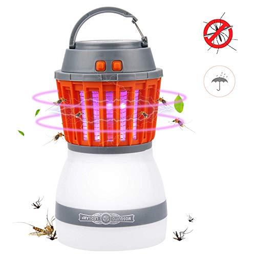 Campinglampe UV Licht Insektenvernichter Mückenkiller, Camping Lantern IP67 wasserdicht tragbar Mückenvernichter Zeltlampe USB Wiederaufladbar für Innen und Außen