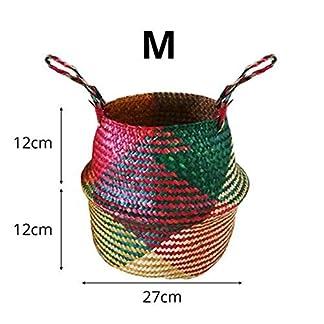 EisEyen – Cesta de Picnic para Guardar Juguetes, Cesta para Chimenea de Algas Marinas para habitación Infantil, tamaño Grande y pequeño, Color, Medium
