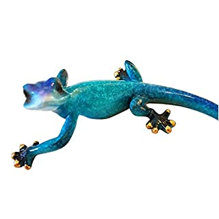 Aljec Speckled Gecko, Small, Metal Blue, 16.5 x 10 x 7 cm