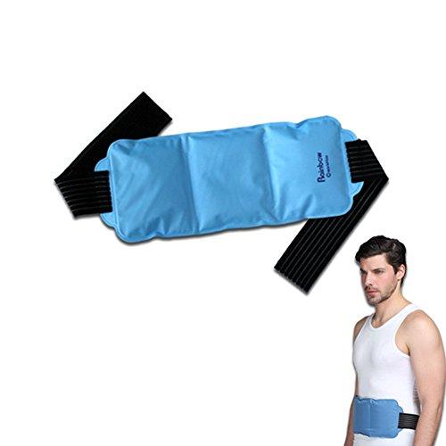 Gel Ice Pack mit Gurt Hot Cold Therapie ideal für Rücken Schulter Nacken Knöchel Waden und Hip wiederverwendbar Dual Funktion Flexibles Cover Wärme hilft Muskelschmerzen Schmerzen Schwellungen Symptome von Arthritis Kopfschmerzen Gelenk Kompression sofort Nylon taffta Gürtel Verschluss Verletzungen Relief Entspannung
