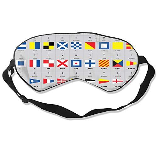 Bandiere nautiche di segnale marittimo internazionale maschera per gli occhi del sonno morse per donne e uomini morbida copertura per ombretto regolabile per gli occhi per la notte per dormire, viaggi
