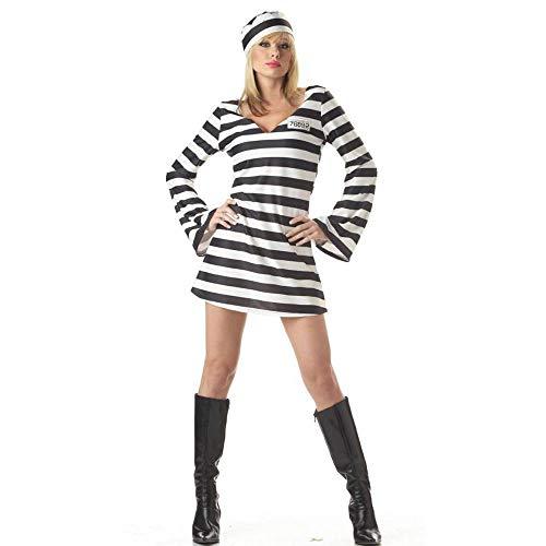 Yunfeng Hexenkostüm Damen Halloween-Kostüm-Party Cosplay Kostüm weibliche Gefangene Kleid