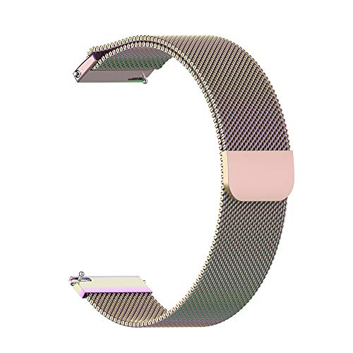 mAjglgE Uhrenarmband für Garmin,Ersetzen Sie das Edelstahlarmband für den Garmin Forerunner 245M / 245 Multicolor