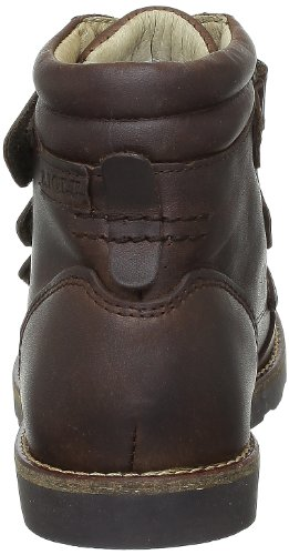 Aigle Fabier Scratch, Chaussures de ville mixte enfant Marron (Dark Brown Ltr)