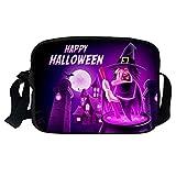 XNBZW Sacs Halloween Sacs à bandoulière simples pour femmes et hommes Couple Sacs à bandoulière Citrouille modèle Sac a main Multicolore O...