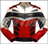 4LIMIT Sports Motorradjacke ADRENALIN Leder rot-schwarz