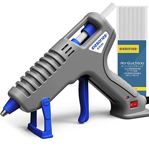 elesories ELE350 Heißklebepistole 35W Profi Hochtemperatur Mini Klebepistole Set mit 10 Heissklebepistole Klebesticks für Kunst Handwerk Reparatur DIY