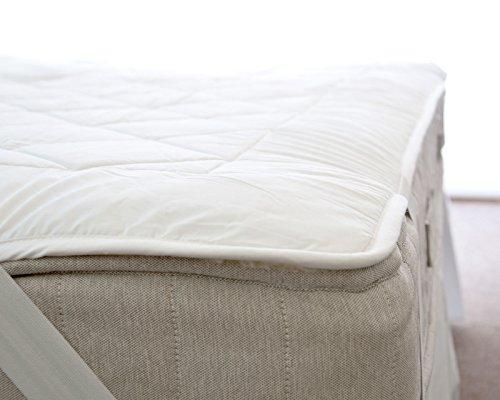 Lujoso colchón Reversible 100% lana polar y 100% algodón - perfecto para...