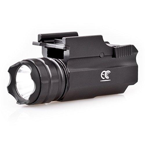 MCCC 230 Lumen LED Schiene Montieren Tactical Gun Taschenlampe Pistole Licht mit Strobe & Weber Schnellspanner für Jagd, Schwarz