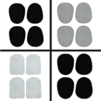 8 Mouthpiece Patches for Saxophone / Clarinet - Black - Thickness: 0.024 (0.6 mm) Cushions black