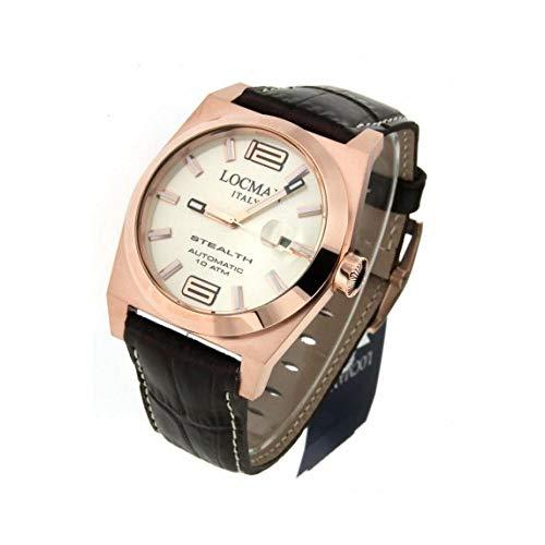 Orologio Locman STEALTH 0205rravf5n0pst Automatico Titanio Quandrante Crema Cinturino Pelle
