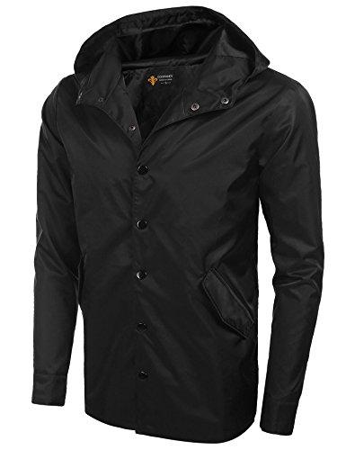 Coofandy Mens Waterproof Jacket Winter Warm Windproof Hooded Coat Tops