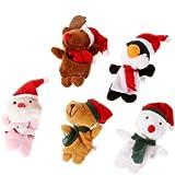 5pcs Marionnettes à doigt Marionnettes d'animaux avec Chapeau de Noël