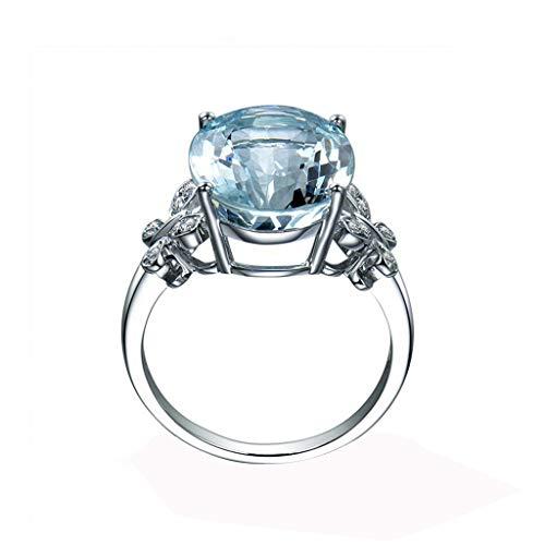 Floweworld Mode Ring Blauer Diamant Schmetterling Schmuck Jubiläumsgeschenk Hochzeit Band ()
