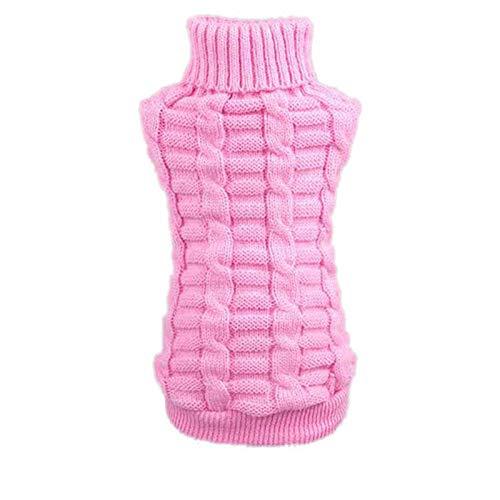 Culater® moda cane vestiti invernali tridimensionale maglione cucciolo vestiti di lana (m, rosa)