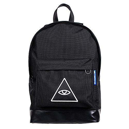 Moda escuela mochila Bookbag Sensi Daypack melance, Negro