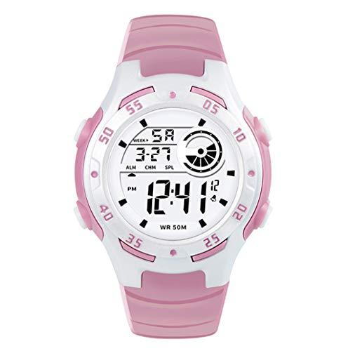 KYSZD-Uhren Smart Watch 50M Wasserdichte Armband Digital Outdoor Elektronische Sport Gummi Bluetooth Multi-Funktion für Jungen Mädchen Teenager Kind Einfach und Stilvoll Schöne