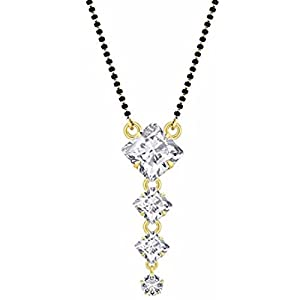 Efulgenz Indian Bollywood Ethnic Traditional Gold Plated CZ Solitaire Mangalsutra Pendant Necklace Set Jewelry for Women