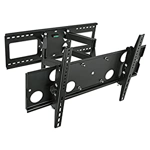 "Mount-It! Articulating TV Wall Mount for 32"" - 65"" LCD/LED/Plasma Flat Screen TVs, Articulating Full Motion, 165 lbs Capacity, Black (MI-2291)"