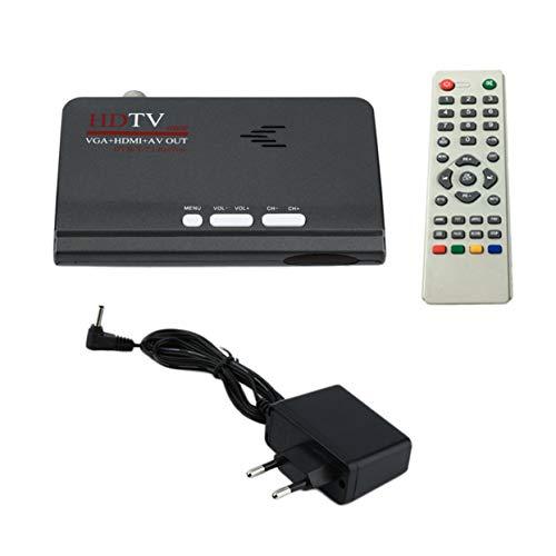 Tree-on-Life Caja de TV Digital terrestre HDMI 1080P DVB-T / T2 Receptor sintonizador VGA AV CVBS con Control Remoto HDMI HD 1080P Caja de TV VGA DVB-T2