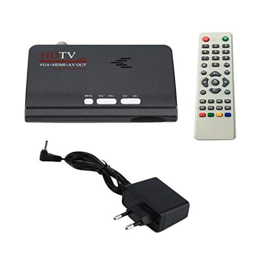 Tree-of-Life Ricevitore TV DVB-T / T2 Digitale terrestre HDMI 1080P DVB-T2 TV VGA Ricevitore sintonizzatore DVB-T2 TV con Telecomando HDMI HD 1080P VGA
