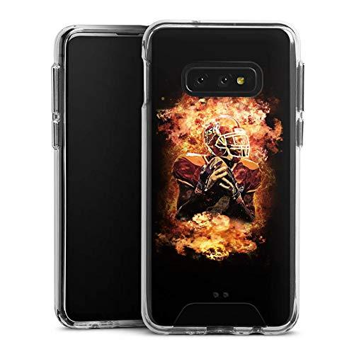 DeinDesign Handyhülle kompatibel mit Samsung Galaxy S10e Bumper Case Schutzhülle American Football Amerika Usa Feuer