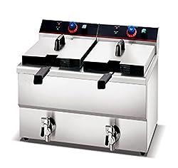 Oceans Commercial Countertop Deep Fryer / Electric Deep Fryer (13L x 2)