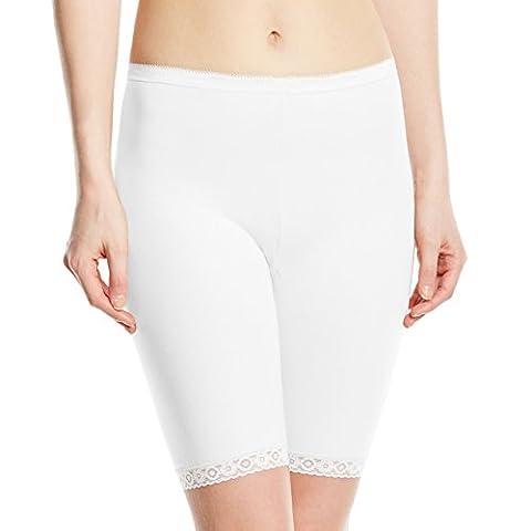 Sloggi - Basic Long - Short - Uni - Femme - Blanc - FR : 46 (Taille Fabricant : 16)
