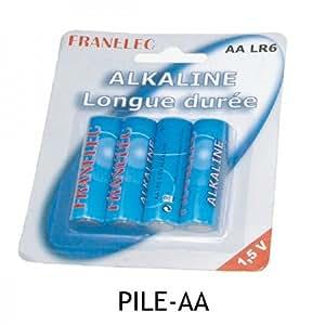 blister de 4 piles alkaline de qualite AA (LR6) franelec