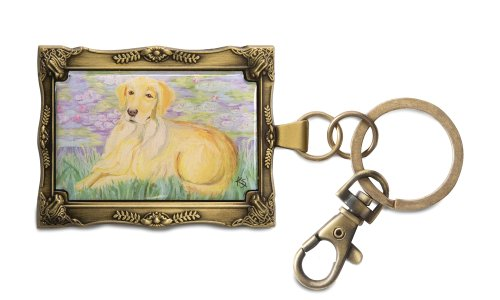 pavilion-gift-company-12020-paw-palettes-keychain-2-by-2-3-4-inch-golden-retriever-bonet