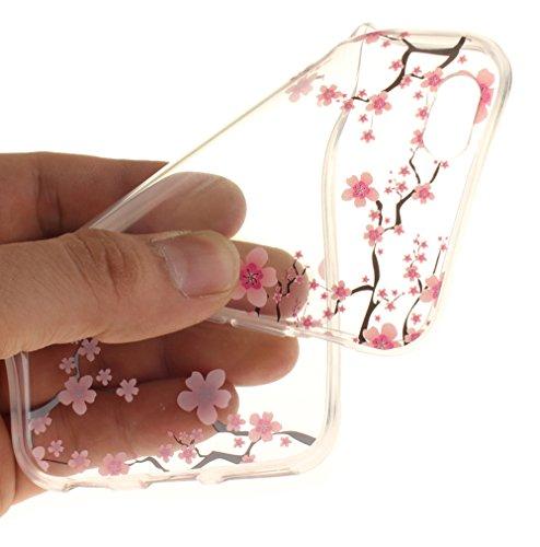 Nnopbeclik [Coque Iphone 6 Silicone / Coque Iphone 6S Apple ] Transparente élégant Style de Impression Couleur Motif Doux Backcover Case Housse pour Iphone 6 Coque Apple / Iphone 6S Coque Silicone (4. fleur12