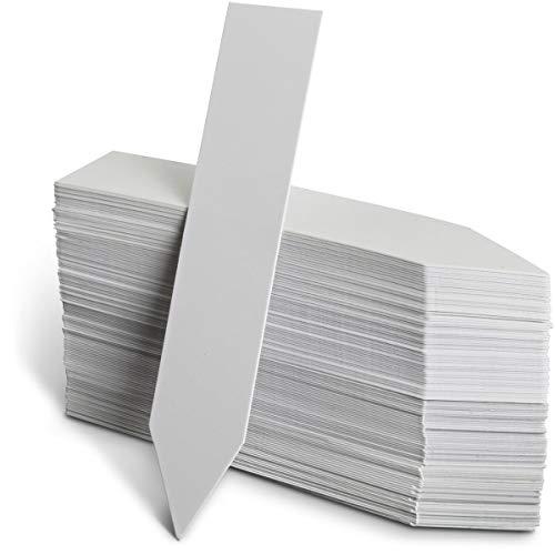 Igadgitz home u6977 - tag piante labels etichette piante giardino etichette giardinaggio - interni ed esterni - vassoi per semi, vasi di fiori, aiuole, serre ed altro - bianca - freccia - 120 pezzi
