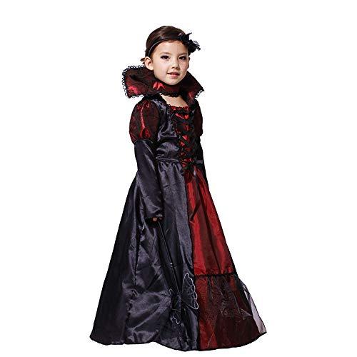 (Amphia - Kind Lange Ärmel Halloween Leistungs Kleidung Cosplay-Kostüm Rock,Kleinkind Kinder Mädchen Halloween Cosplay Kostüm Kleider Outfits Kleidung(Schwarz,XL))