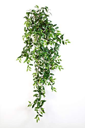 artplants Set 6 x Deko Tradescantia Fluminensis Aurelie, Steckstab, grün, 125 cm - 6 Stück Kunstpflanze hängend/Künstliche Ranke