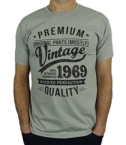 9743fb5fb 1969 Vintage Year - Aged to Perfection - 50th Birthday Gift / Present Mens T -