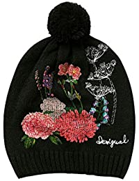 Desigual Damen Strickmütze HAT_BOTANIC, Schwarz (Negro 2000), One Size (Herstellergröße: U)