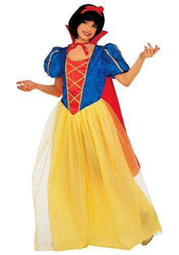 Karneval-Klamotten Schneewittchen-Kostüm Kinder Mädchen-Kostüm Märchen Kostüm mit Umhang -