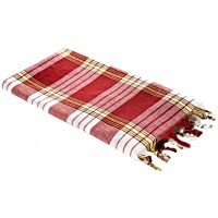Carenesse Hamamtuch CLASSIC rot kariert, 100% Baumwolle, 80 x 170 cm, leicht, kleines Packmaß, Pestemal, Saunatuch, Badetuch, Strandtuch, Handtuch Backpacker, Turkish Towel, Fouta