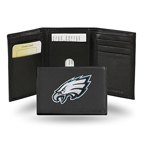 Unbekannt Besticktes Portemonnaie von NFL, dreifach gefaltet, Unisex Herren, RTR2501, Schwarz, einheitsgröße - Zubehör Baby Eagle