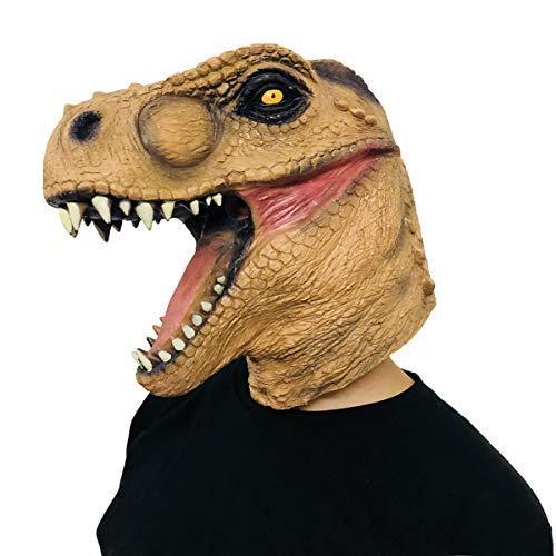 Finalshow Dinosaurier Maske Latex Tyrannosaurus Rex Kopf Drachen Tier Kostüm für Halloween Weihnachten Party Dekoration -