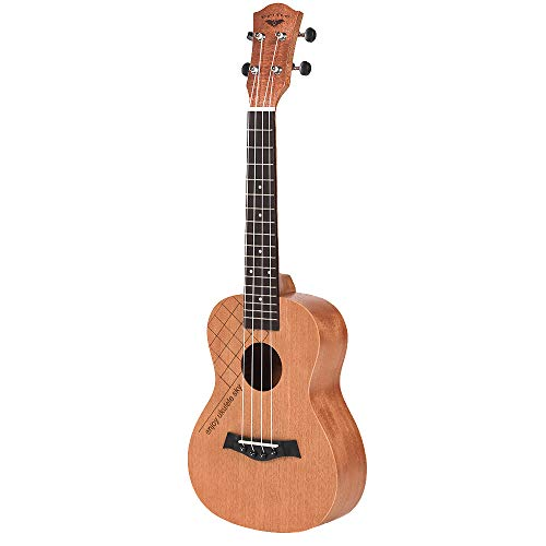PQZATX Konzert Ukulele Oguman Palisander Klassischer Gitarren Kopf 23 Zoll Ukulele Uke 4 Saiter Hawaii Gitarre