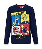 Sam Le Pompier 5408, Camiseta para Niños, Azul Bleu Marine, 5 años