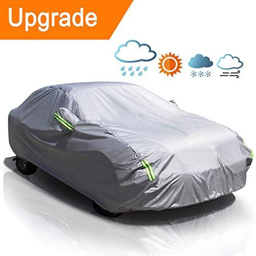 Matcc copriauto telo copriauto auto impermeabile pieghevole anti uv anti pioggia sole 210t(440 * 180 * 160cm)