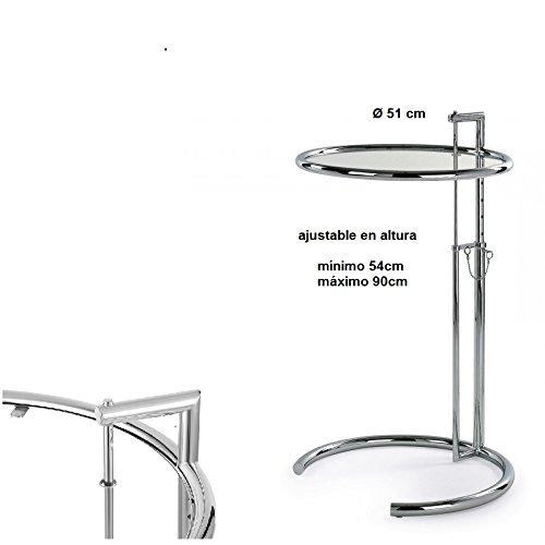 Table Basse relevable chromé Verre hogardecora