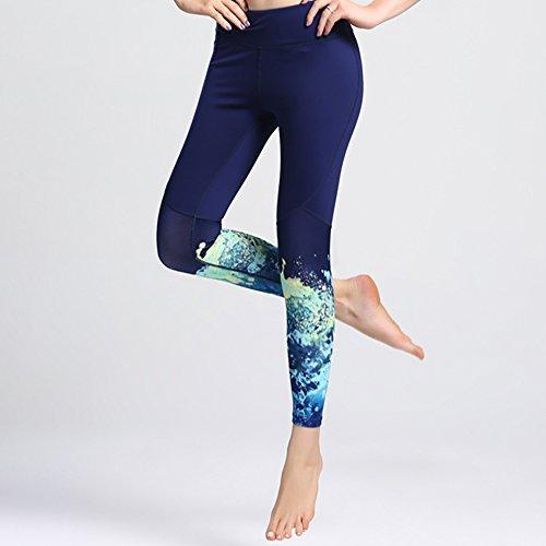 iBaste Legging de Yoga Sport Imprimé Pantalons Collant Minceur Yoga Fitness Running Femme Comme montré