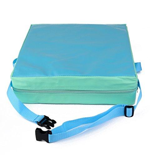 Lance Home Cojín Asientos Infantil Silla De Refuerzo Cuero Artificial Portátil Verde Azul para Niño Bebé