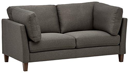 Rivet Midtown Modernes Sofa mit abnehmbaren Kissen, B 174cm, Schwarzgrau